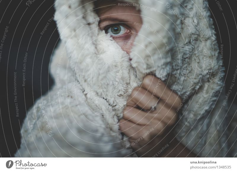 hibernation Flat (apartment) Blanket Woman Adults 1 Human being Freeze Looking Sleep Illness Emotions Sadness Fatigue Loneliness Shame Fear Distress Perturbed