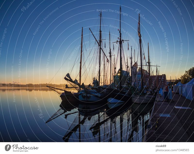 sailing ships Vacation & Travel Sailing Water Clouds Harbour Sailing ship Watercraft Maritime Blue Romance Idyll Calm Tourism Tradition Logistics Windjammer