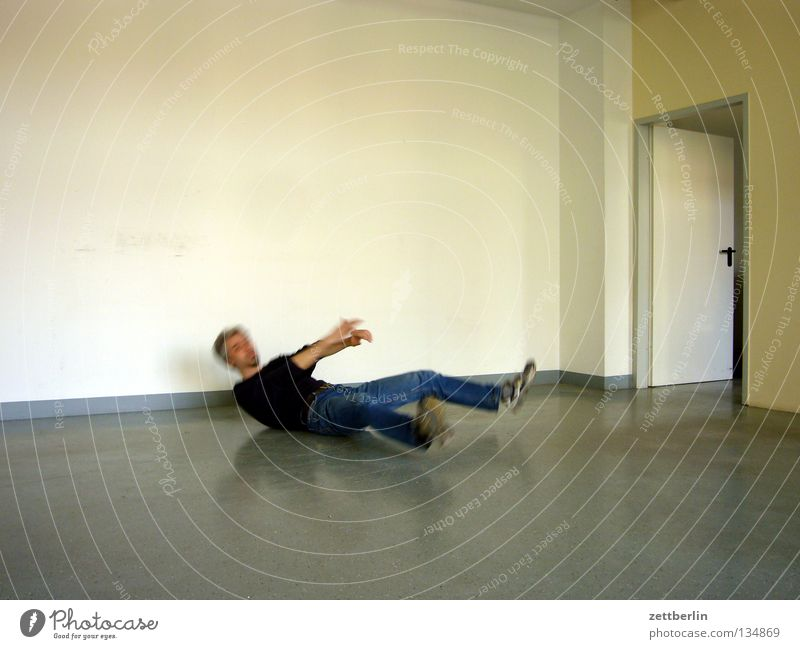 Human being Man Wall (building) Door Contentment Room Back Lie Empty Floor covering Transience Sudden fall Feeble Tumble down Kill Breakdance