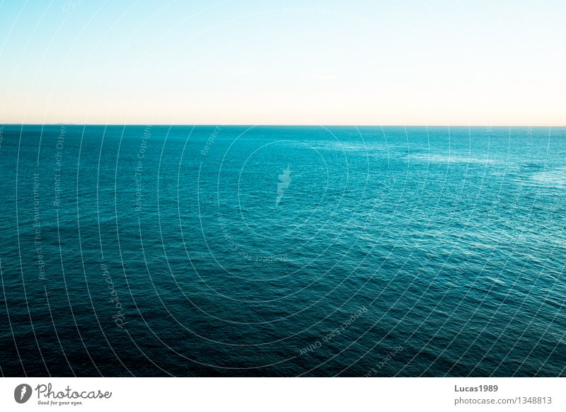 Heaven:Water 1:2 Vacation & Travel Tourism Far-off places Freedom Elements Air Sky Cloudless sky Beautiful weather Waves North Sea Baltic Sea Ocean Lake Brown