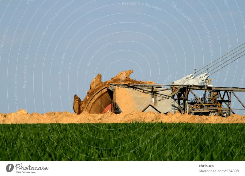 Sand Earth Mining Raw materials and fuels Industry Energy industry Electricity Craft (trade) Hollow Excavator Soft coal mining Lignite Garzweiler Soft coal dredger