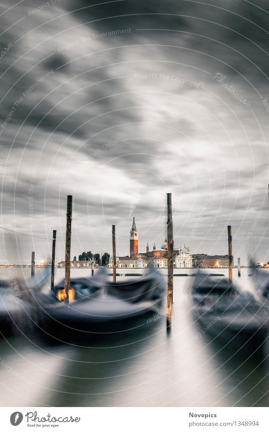 City Blue Water White Red Clouds Black Architecture Watercraft Bridge Manmade structures Tradition Old town Port City Venice Means of transport