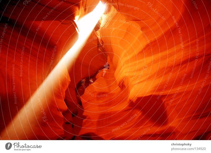 Light my fire Sunbeam Canyon Cave Page USA Blaze Colour Powell River