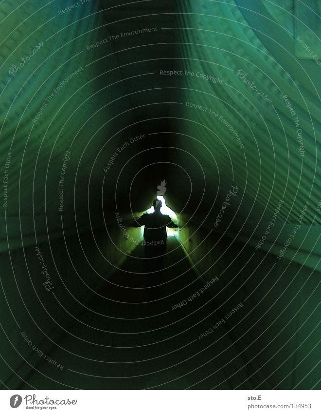Human being Man White Green Dark Art Bright Fear Walking Concrete Masculine Design Future Stripe Industry Culture