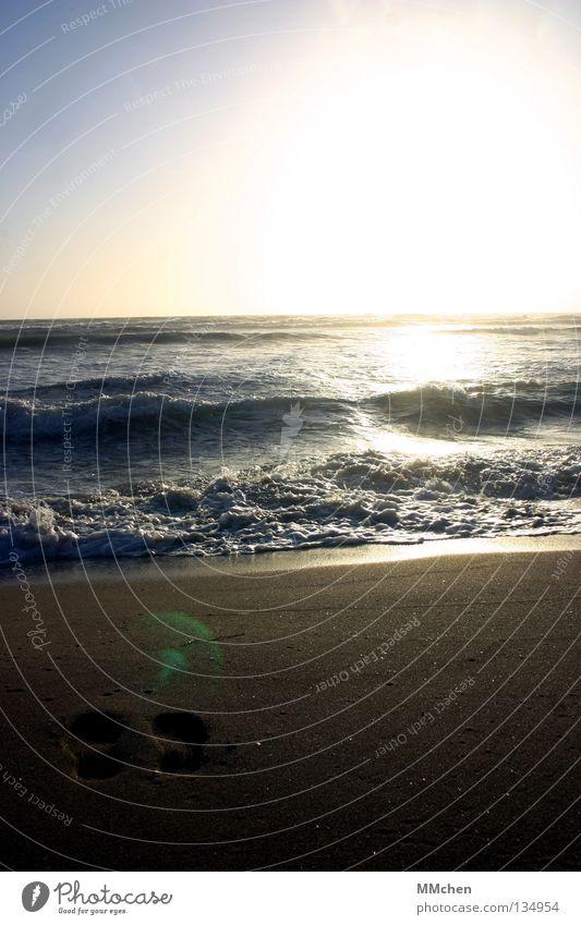 Water Sun Ocean Beach Sand Waves Horizon Earth Tracks Longing Footprint Doomed Wanderlust Memory High tide Hissing