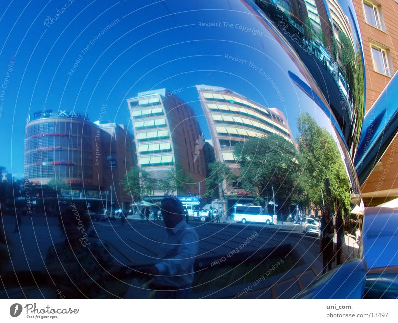 Human being Berlin Car Distorted Office building Photographic technology Potsdamer Platz
