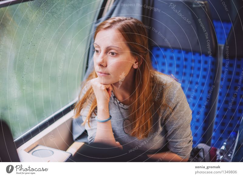 Human being Vacation & Travel Youth (Young adults) Blue Young woman Calm Far-off places Winter Life Autumn Freedom Rain Dream Leisure and hobbies Tourism Wait