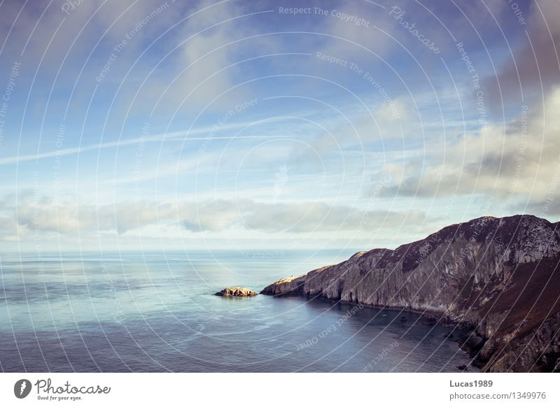 Sky Nature Vacation & Travel Blue Water Ocean Landscape Clouds Far-off places Travel photography Environment Coast Gray Freedom Rock Horizon