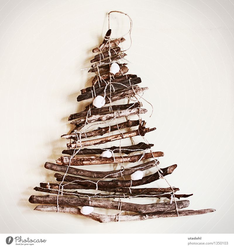 Driftwood Christmas tree Handicraft Handcrafts Winter Decoration Christmas & Advent Kitsch Odds and ends Wood Knot Brown Moody Safety (feeling of)