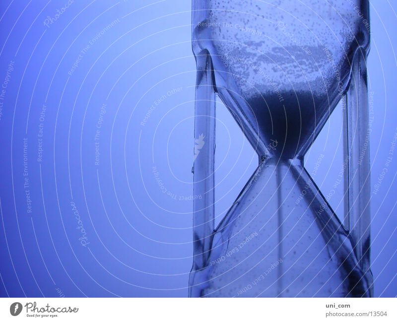 Blue Clock Sand Time Living or residing Stop Statue Date Trickle Hourglass