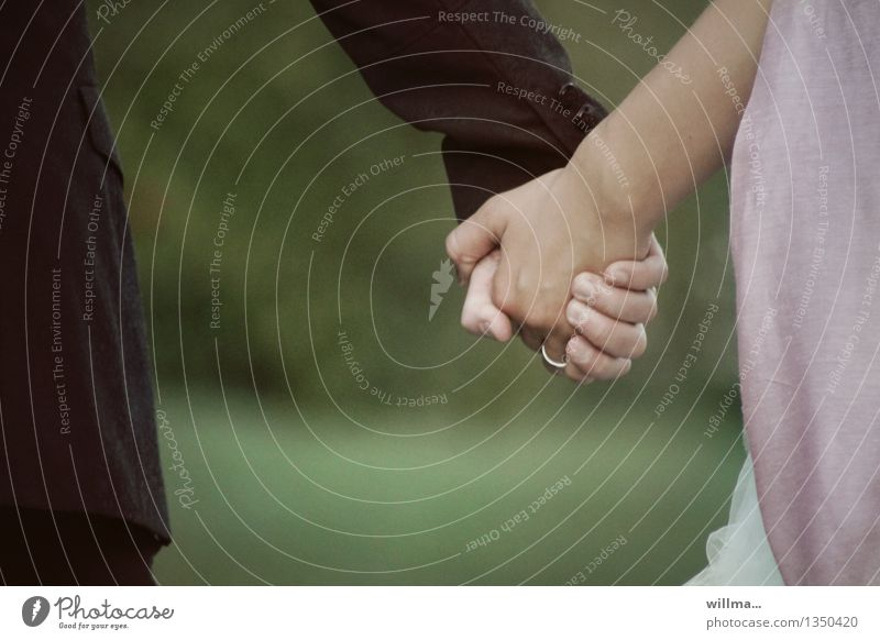 they dared. Wedding Couple Partner Hand To hold on Together Emotions Happy Trust Safety Safety (feeling of) Agreed Sympathy Love Loyalty Relationship Future