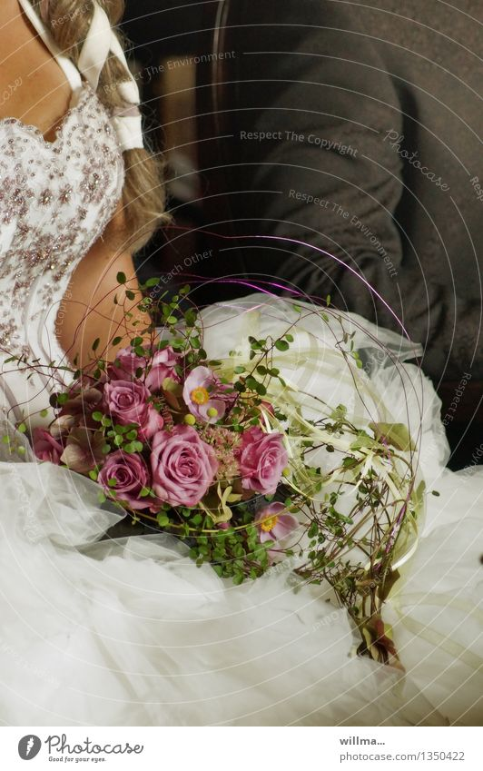 Beautiful Love Emotions Happy Couple Together Elegant Romance Wedding Rose Attachment Bouquet Trust Partner Expectation Braids