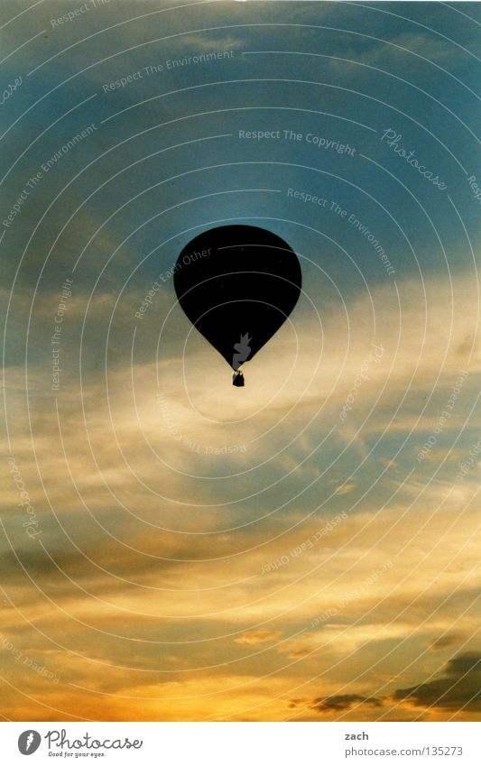 Sky Clouds Calm Above Freedom Air Leisure and hobbies Tall Airplane Aviation Painting and drawing (object) Hot Air Balloon Upward Hover Ease