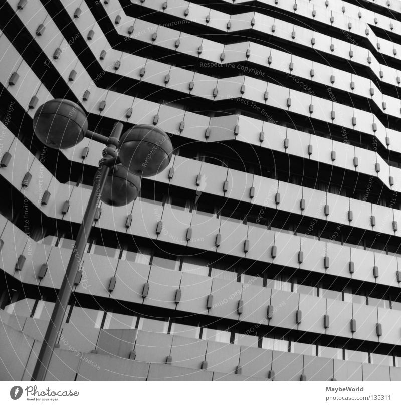 City North 6 Mail Building Facade Window Hamburg City North bw Black & white photo architecture Town street lamp windows