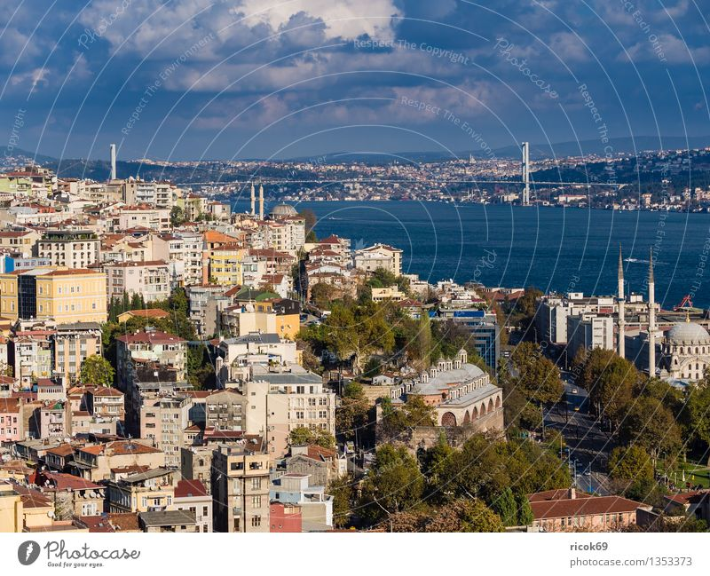 Istanbul Vacation & Travel House (Residential Structure) Water Clouds Town Port City Downtown Bridge Building Architecture Tourist Attraction Blue Tourism