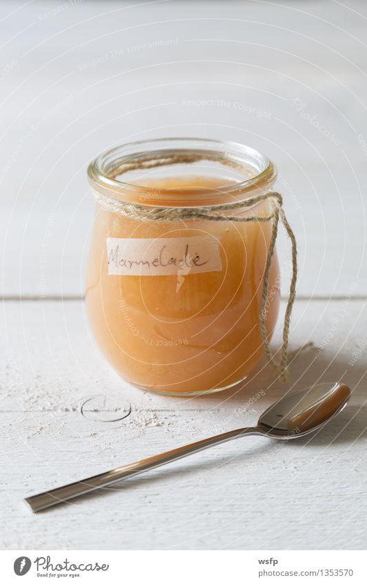 Pear jam in a preserving jar Fruit Jam Breakfast Vegetarian diet Diet Spoon String Fresh Delicious pear jam pears organic Glass Preserving jar Eating