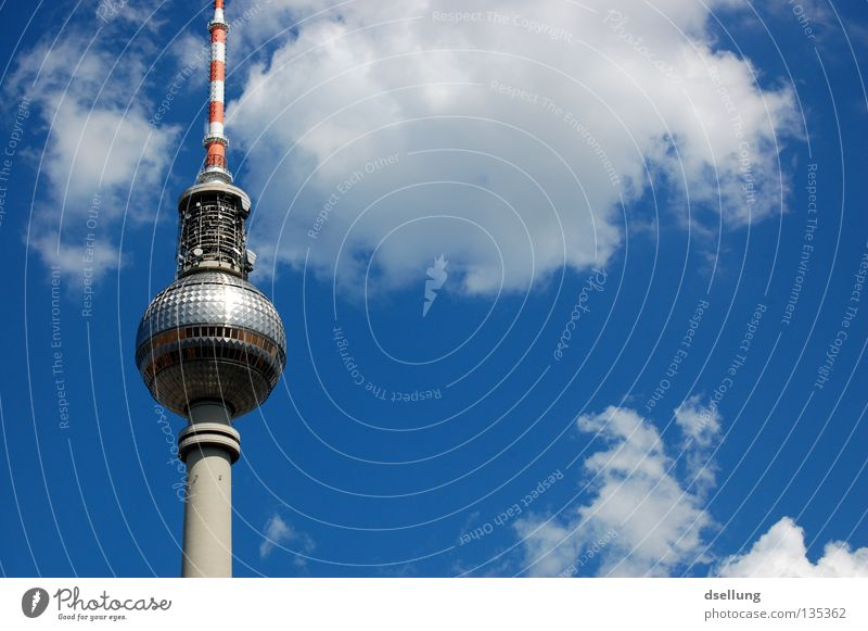 Berlin Architecture Germany Glass Concrete Tall Tourism Europe Communicate Telecommunications Thin Long Landmark Downtown Tourist Attraction