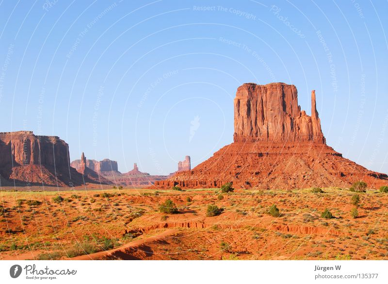 Sky Blue Freedom Sand Rock USA Emotions Desert Wanderlust Utah Cloudless sky