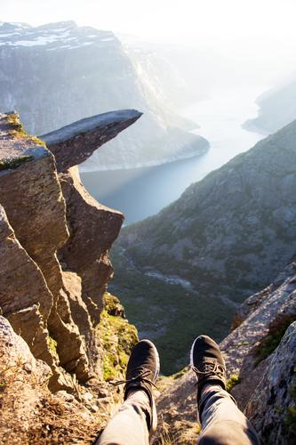 Norway - Trolltunga Vacation & Travel Trip Adventure Far-off places Freedom Expedition Camping Mountain Hiking Environment Nature Landscape Sunrise Sunset