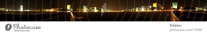 Brasilia - Esplanade Ministerios Brasília Ministry Panorama (View) Night Places Niemeyer Large Panorama (Format)