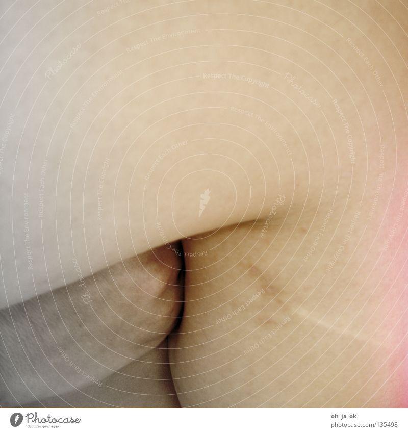 the mouth speaks - the body speaks Pore Vulnerable Naked Near White Black Soft Round Narrow Thigh Sensitive Greaseproof paper Pebble Lovesickness Feeble Skin