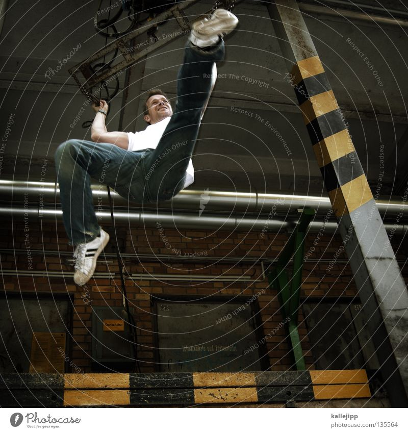 Human being Man Jump Stripe Industrial Photography Dynamics Train station Fight Respect Combat sports Ramp SME Footstep Fighter Martial arts Tread