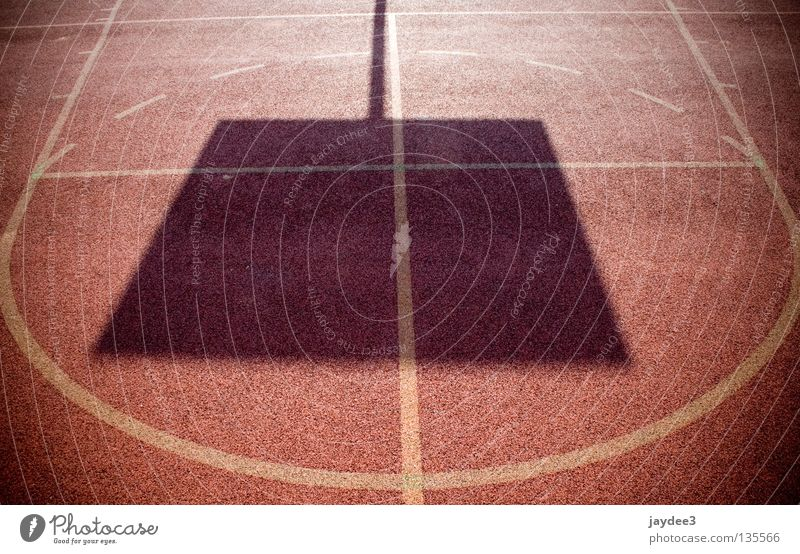 Square in circle Red Field Light Ball sports Shadow Line Basketball Sports Circle Sun Signs and labeling Beautiful weather Bright Exterior shot