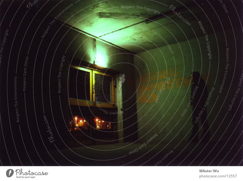 multi-storey car park Night Light Long exposure Human being