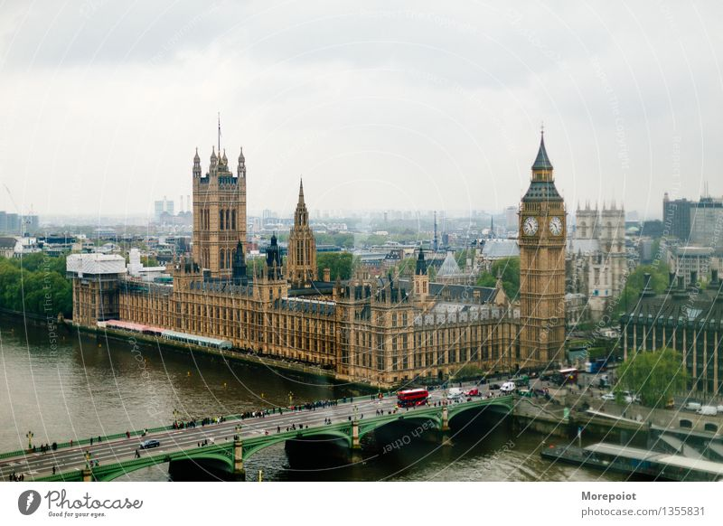 Big Ben London Great Britain Europe Town Capital city Old town Populated Palace Architecture Tourist Attraction Landmark Design London Eye Colour photo