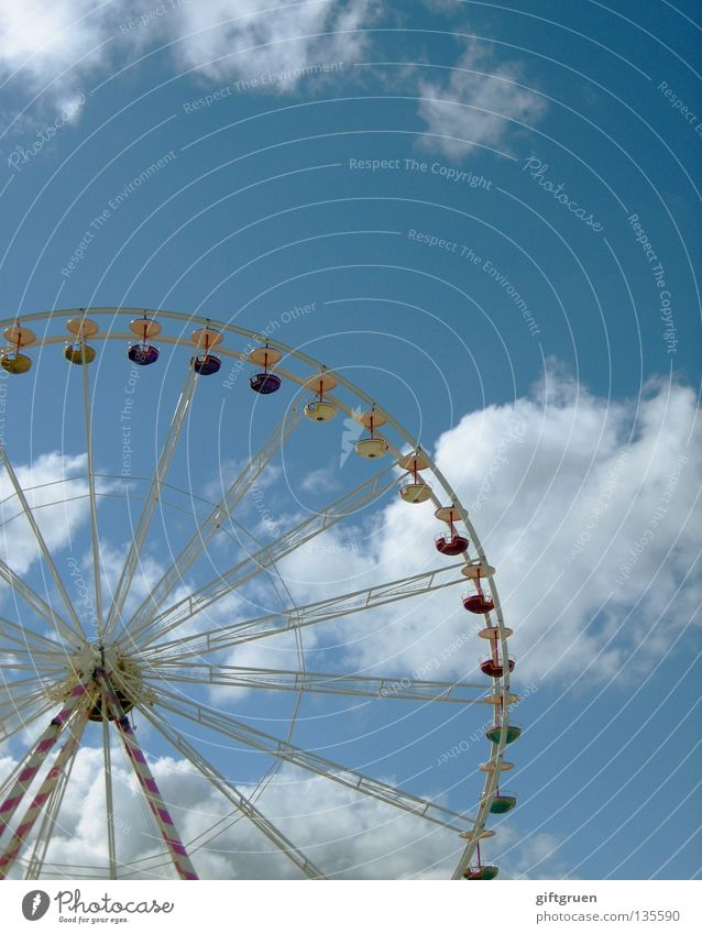 roundabout Ferris wheel Round Fairs & Carnivals Theme-park rides Carousel Rotate Large Attraction Joy Playing Sky Level Tall all around Vertigo