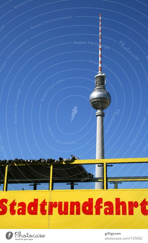 Vacation & Travel Berlin Art Transport Tourism Monument Bus Conduct Landmark Tourist Berlin TV Tower Capital city Sightseeing Tourist Attraction Alexanderplatz