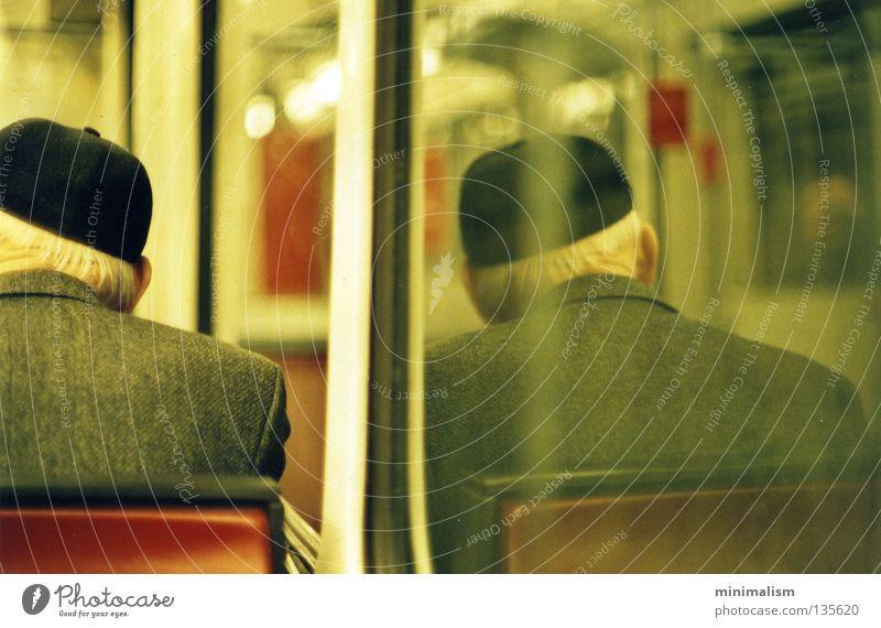 Man Calm Senior citizen Warmth Public transit Physics Mirror Human being Underground Cologne Male senior