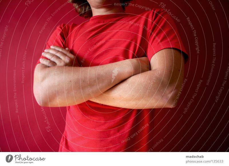 Human being Man Hand Red Colour Warmth Door Power Arm Masculine Success Stand Force Lifestyle Might Posture