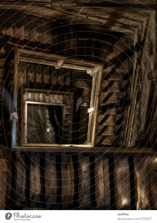 Wood Building Fear Architecture Stairs Logistics Tower Square Monument Historic Deep Sudden fall Upward Landmark Handrail