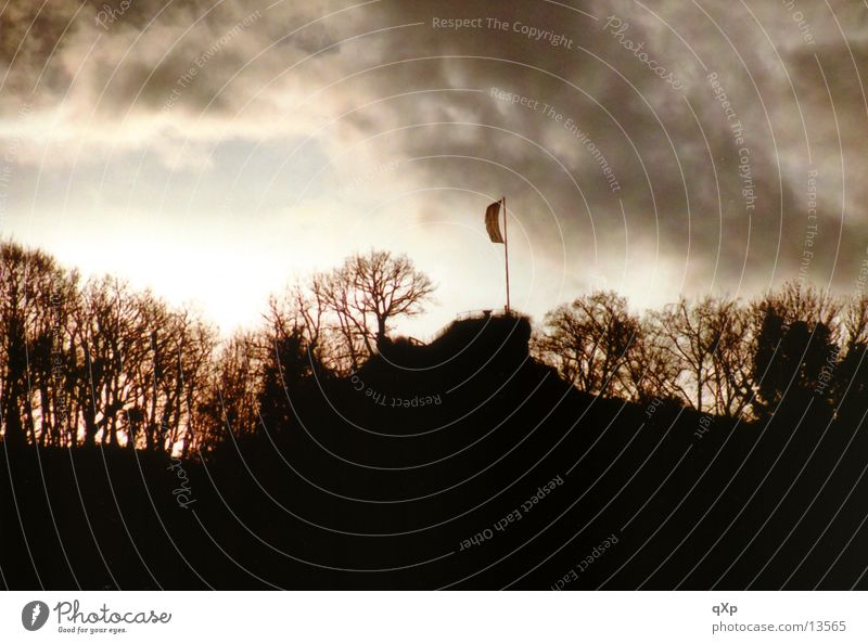 Clouds Forest Autumn Mountain Flag Freiburg im Breisgau
