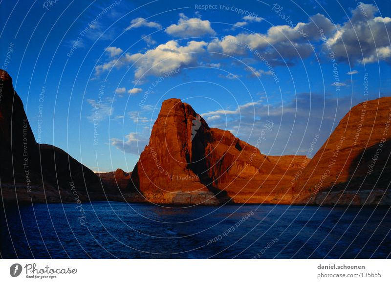 Sky Water Red Vacation & Travel Clouds Mountain Stone Lake Watercraft Orange Background picture Hiking Rock USA Climbing Americas