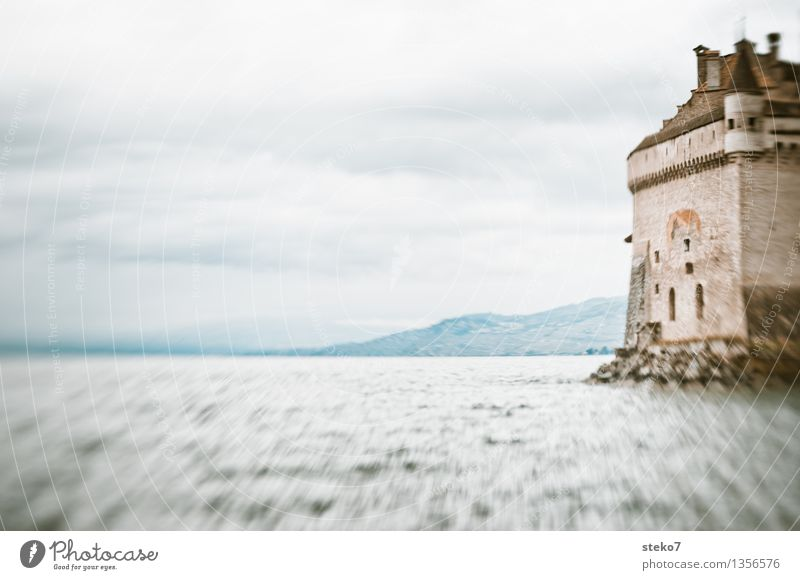 lake view Lakeside Castle Tower Rescue Protection Safety Power Trust Subdued colour Exterior shot Lomography Deserted Copy Space left Copy Space top