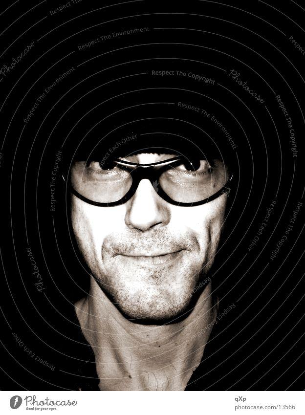 un loco Eyeglasses Grimace Freak Man Grinning