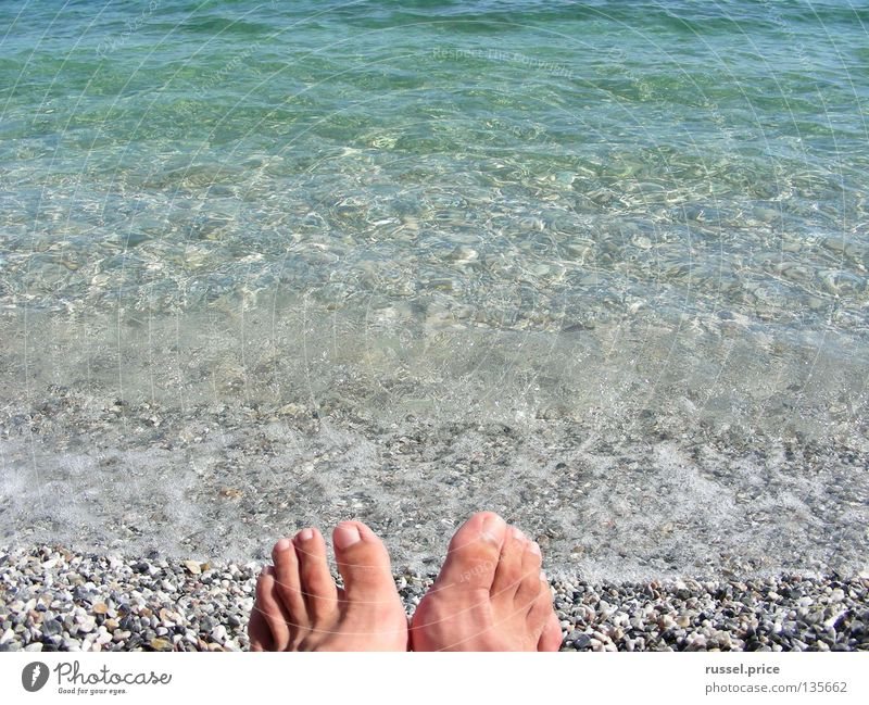 Day at the sea Beach Beautiful Vacation & Travel Greece Relaxation Exterior shot Navigation Summer Coast Water Blue Feet Stone Freedom Joy