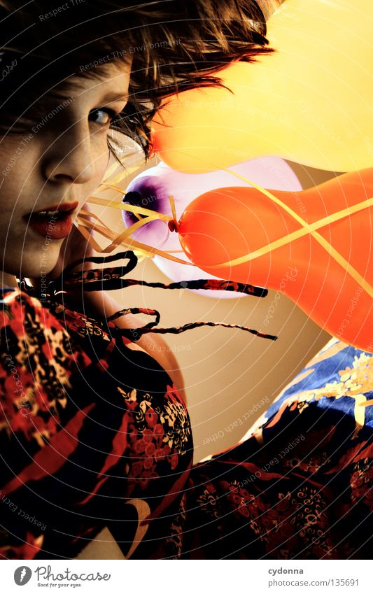 Woman Human being Joy Flower Playing Emotions Party Style Moody Mouth Brown Background picture 3 Safety Balloon