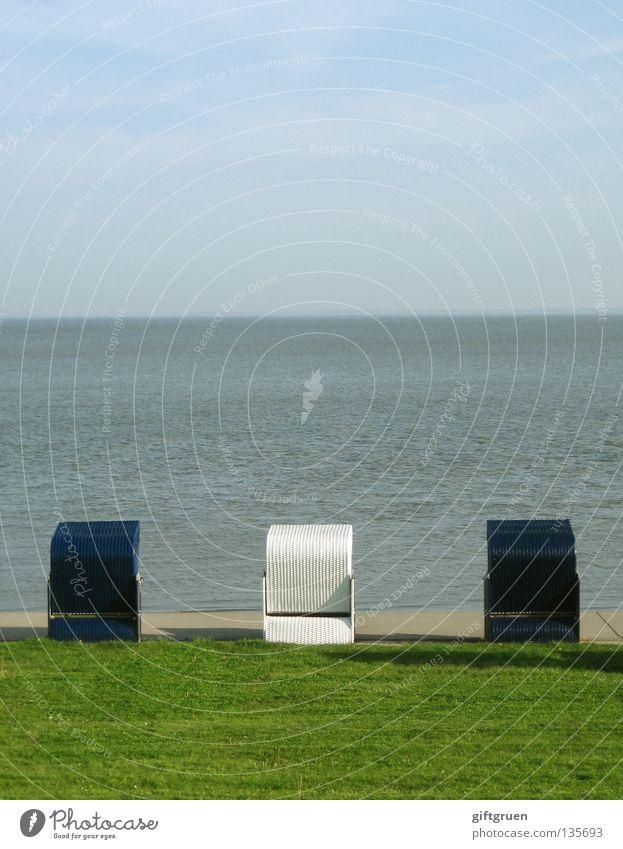 Water Sky White Ocean Blue Beach Vacation & Travel Meadow Coast Arrangement Clean Promenade Beach chair Tidy up Lower Saxony Meticulous