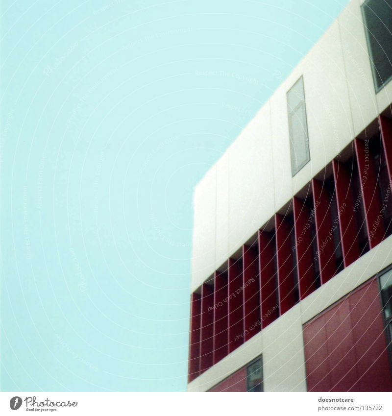 Sky Red Gray Building Architecture Facade Modern Exceptional Leipzig Dining hall Saxony Mensa