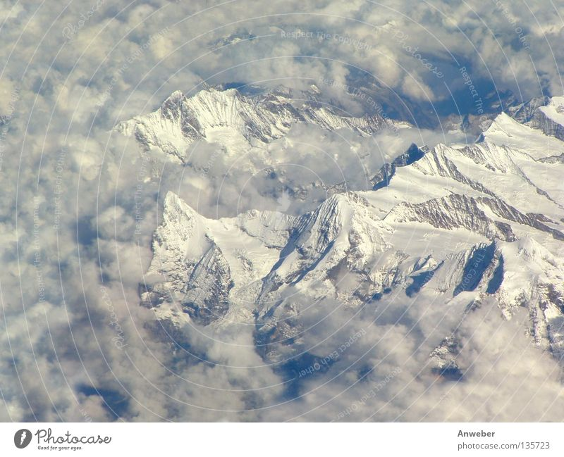 Sky Nature Vacation & Travel Snow Mountain Landscape Ice Europe Alps Switzerland Sublime Mountain range Majestic Monk (mountain)