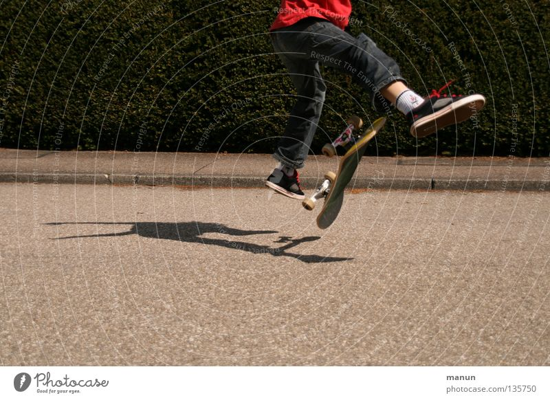 Child Youth (Young adults) Red Joy Black Street Sports Boy (child) Jump Playing Movement Healthy Action Leisure and hobbies Fitness Skateboarding