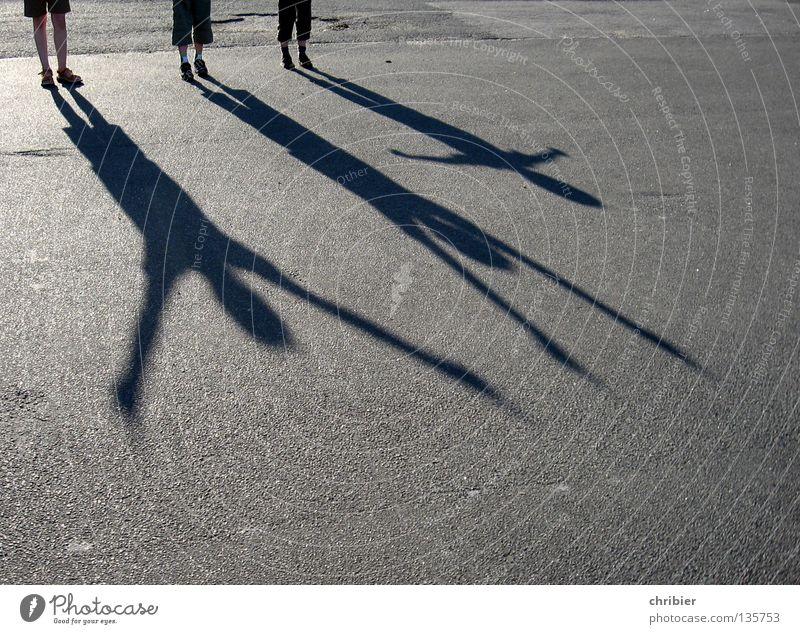 giant like II Shadow Child Joy Applause Black Gray Silhouette Arm Sunset Asphalt Concrete Pavement Tar High spirits Hop Vacation & Travel Free Freedom 3 Summer
