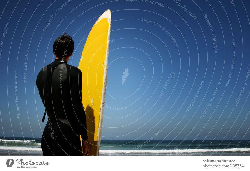 Man Sky Water Summer Ocean Yellow Sports Waves Wind Horizon Part Surfing Surfer Funsport Surfboard Whitewater
