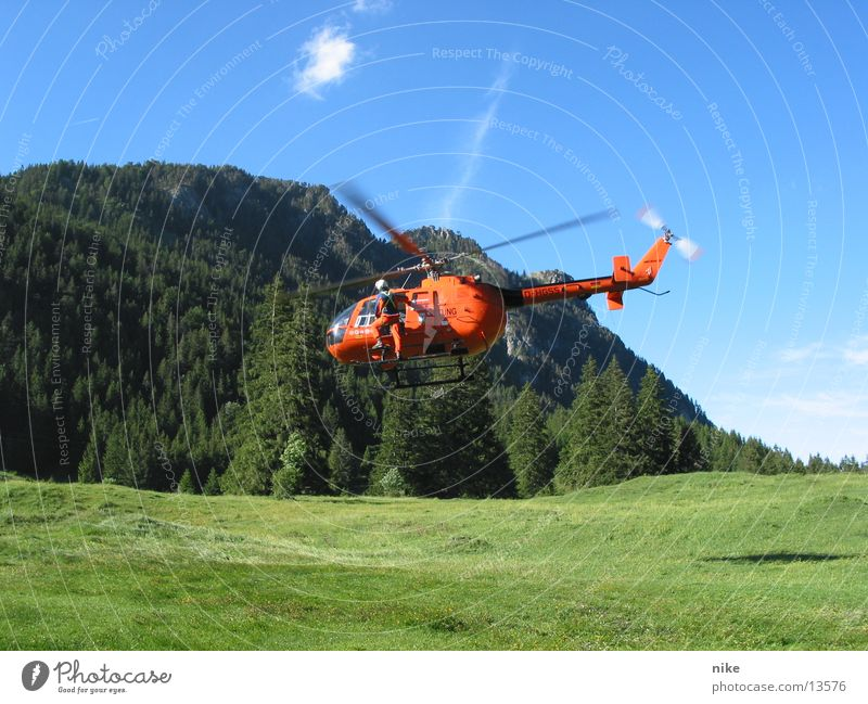 heli Aviation Helicopter Rescue helicopter mountain rescue Christopher 19 First Help Medic Eurocopter