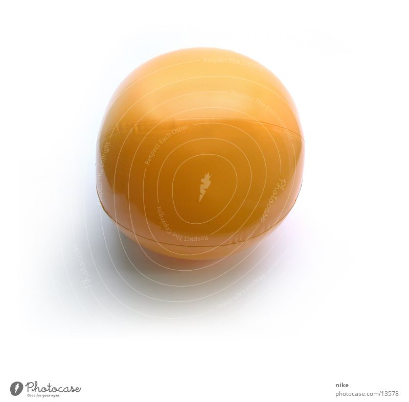 Round Ball Things Object photography Beach ball Yellow-orange Bright background