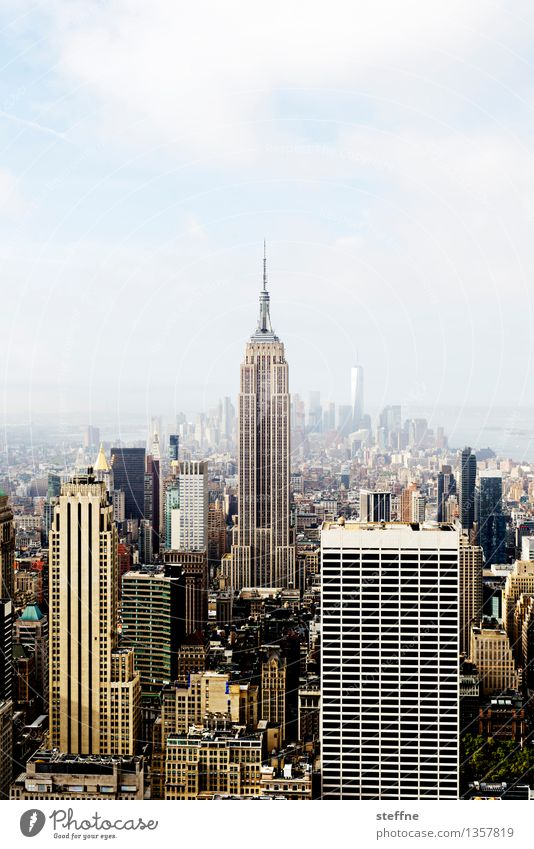 NYC |01 New York City Manhattan USA Town City life High-rise Skyline Esthetic Freedom Americas Empire State building Landmark