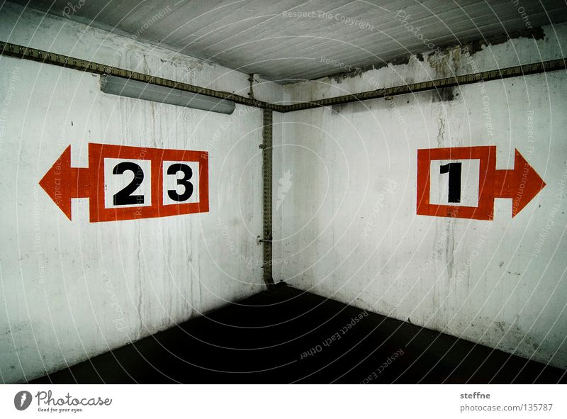 two-three1 YEAR photocase Jubilee Parking garage Parking level Caught by a speed camera Concrete Gray Digits and numbers Graphic Direction